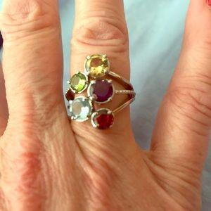 Jewelry - NWT Multi Gemstone Five Stone Ring
